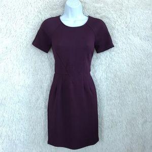 Purple Sheath Dress Exposed Zipper Forever 21